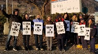 CUPW members on strike