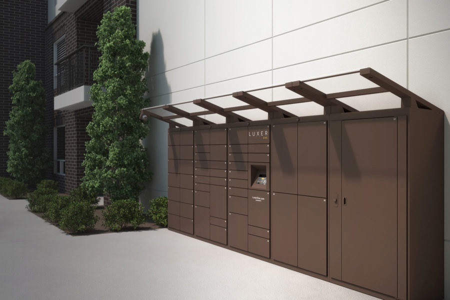 A Luxer One residential parcel locker