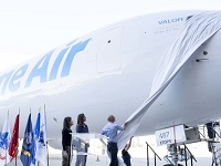 Amazon CEO Jeff Bezos unveils <p>the 40th 'Prime Air' plane