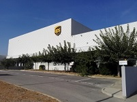 UPS France sorting centre in Montpellier