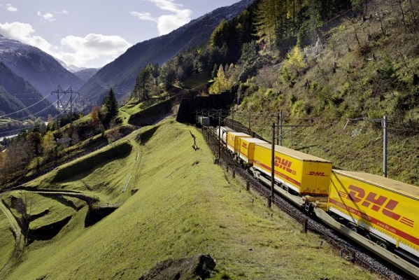DHL is transporting more freight by train
