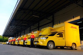 DHL eCommerce Thailand delivery vans