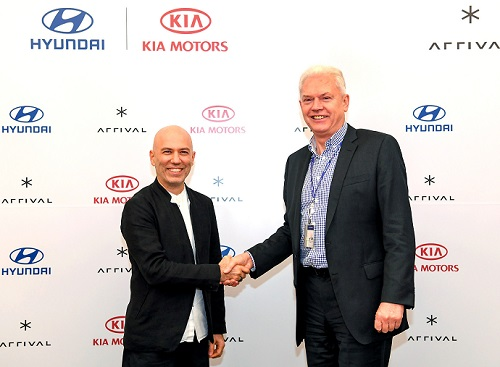 Arrival CEO Denis Sverdlov (left) with Hyundai's Albert Biermann