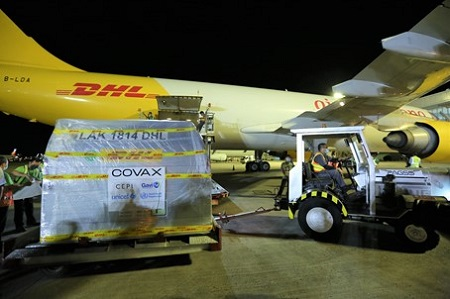 DHL delivers vaccines to the Philippines