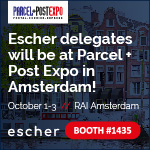 Escher Group will be at Parcel+Post Expo - Amsterdam Oct. 1-3