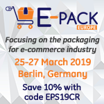 E-Pack Europe 2019, Berlin, Mar 25 - 27