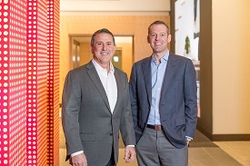 Target CEO Brian Cornell (left) with <p>Shipt CEO & founder Bill Smith