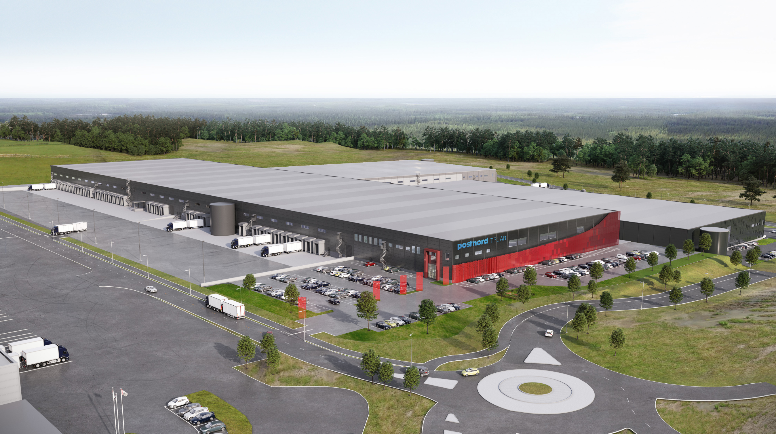 Conceptual image of the new PostNord facility