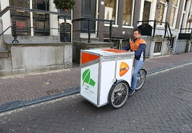 PostNL e-cargo bike in Amsterdam