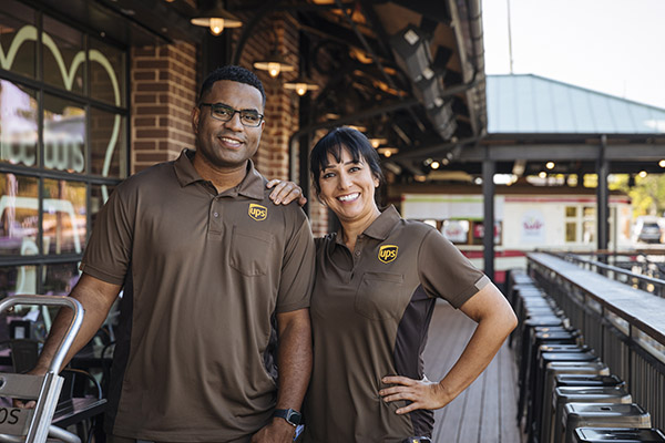 UPS's new uniforms with colour blocking on the sides