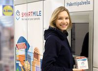 Smartmile parcel machine in Lidl store