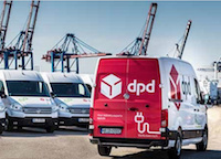 The DPD VW e-Crafter in Hamburg