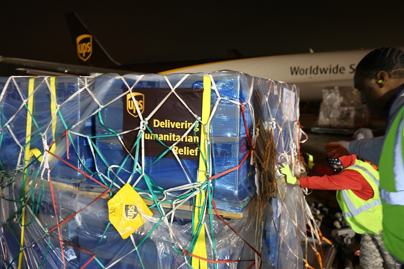 UPS delivers humanitarian supplies
