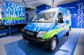 A Cainiao van with new logo
