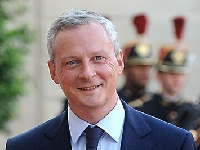 Bruno Le Maire is the French minister <p>for economics and finances