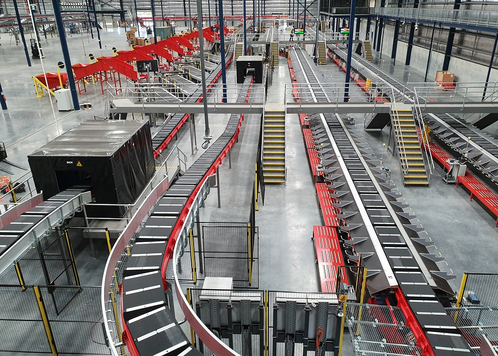 Beumer system in Australia Post Brisbane hub